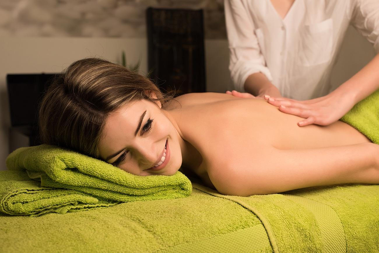 woman enjoy spa
